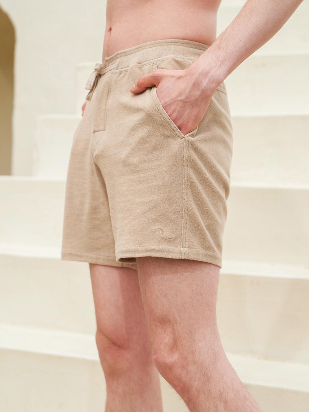 Kyle beige board shorts