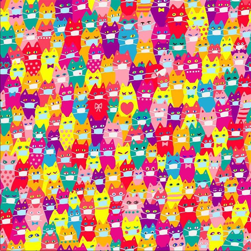 DARKSHINY ×猫だらけ  限定デザイン カラフルマスク