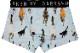 DARKSHINY ×TOBINEKO 飛び猫 コラボ ユニセックスボクサーパンツ - Marching cats マーチングキャッツLIGHT BLUE ライトブルー