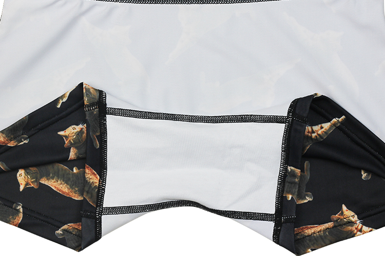 DARKSHINY ×TOBINEKO 飛び猫 コラボ ユニセックスボクサーパンツ - BLACK ブラック