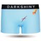 DARKSHINY ×TOBINEKO 飛び猫 コラボ ユニセックスボクサーパンツ - スクラッチ(ブルー)
