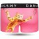 DARKSHINY ×TOBINEKO 飛び猫 コラボ ユニセックスボクサーパンツ - スクラッチ(ピンク)
