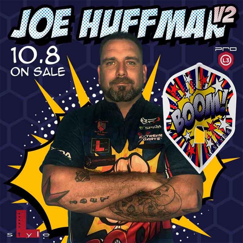 L-style(エルスタイル) L-Flight PRO(エルフライトプロ) Joe Huffman ver.2 シェイプ ホワイト ジョー・ハフマン選手モデル (ダーツ フライト)