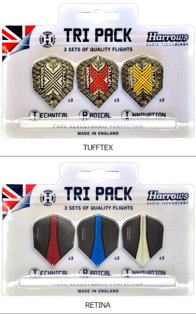 Harrows(ハローズ) TRI PACK FLIGHT(トライパック フライト) シェイプ