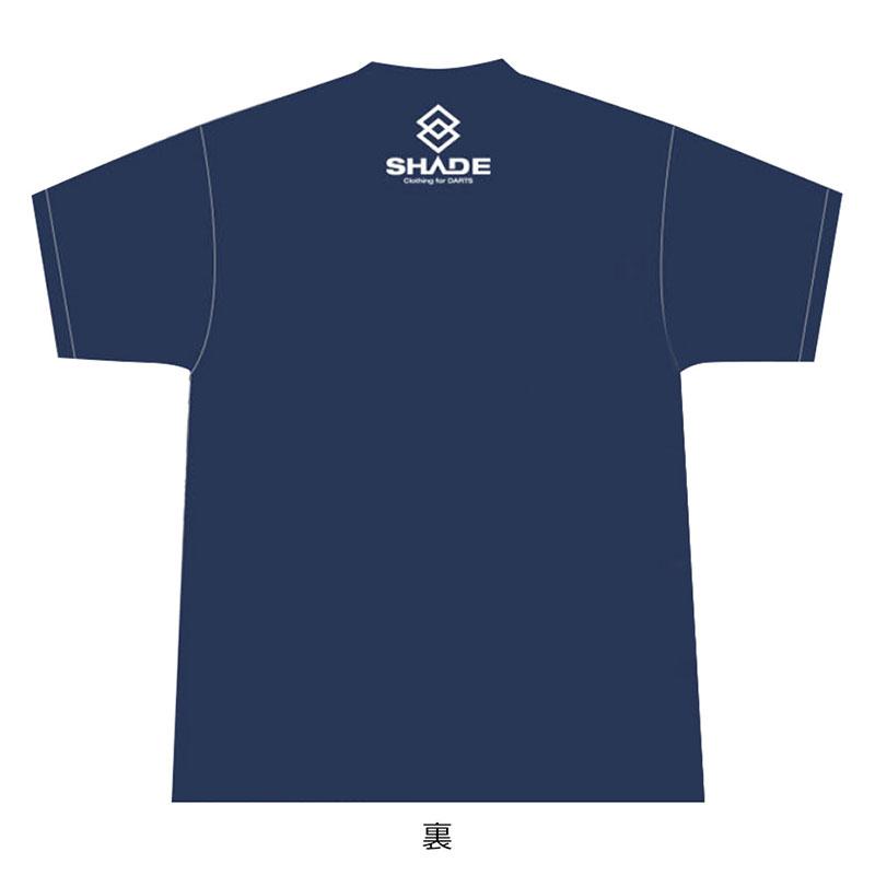 SHADE(シェイド) KENICHI AJIKI T-Shirt 2020 安食賢一選手コラボTシャツ ネイビー (ダーツ アパレル)