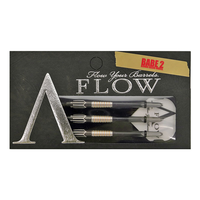 DYNASTY(ダイナスティ) A-FLOW BLACK LINE コーティングタイプ BABE2(ベイブ2) 2BA 今野明穂選手モデル (ダーツ バレル)