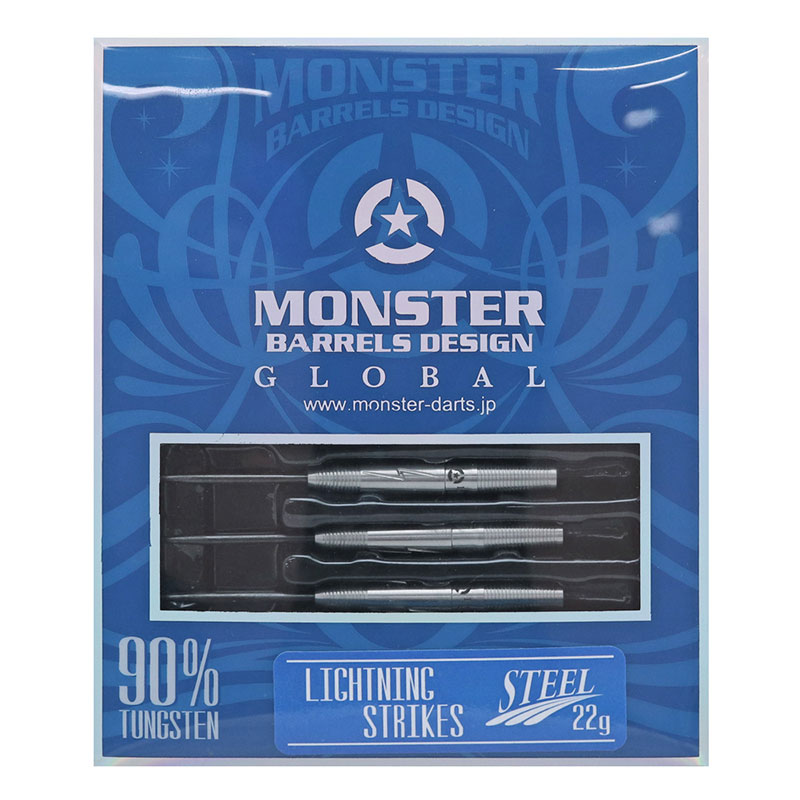 MONSTER(モンスター) LIGHTNING STRIKES(ライトニングストライクス) STEEL 22g クリス・リム選手モデル (ダーツ バレル)