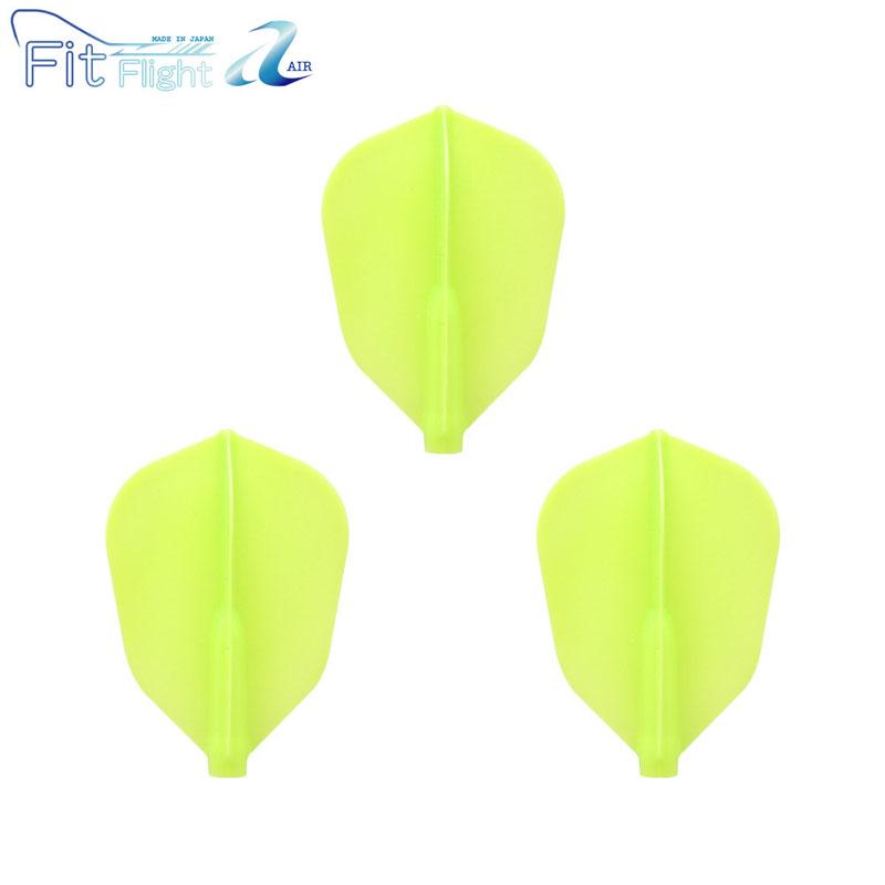 COSMO DARTS(コスモダーツ) Fit Flight【AIR】(フィットフライト エアー) スーパーシェイプ ライトグリーン 無地 (ダーツ フライト)