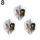8FLIGHT(エイトフライト) GEORGE NISHITANI G2 シェイプ ホワイト <400180> 西谷譲二選手モデル (ダーツ フライト)