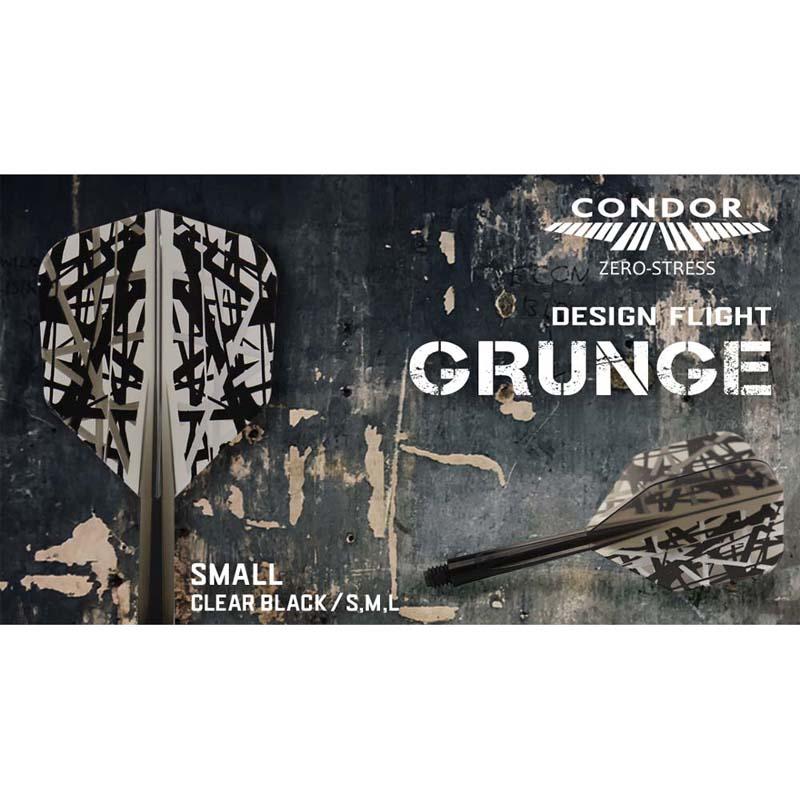 TRiNiDAD(トリニダード) CONDORフライト GRUNGE(グランジ) スモール クリアブラック (ダーツ フライト)