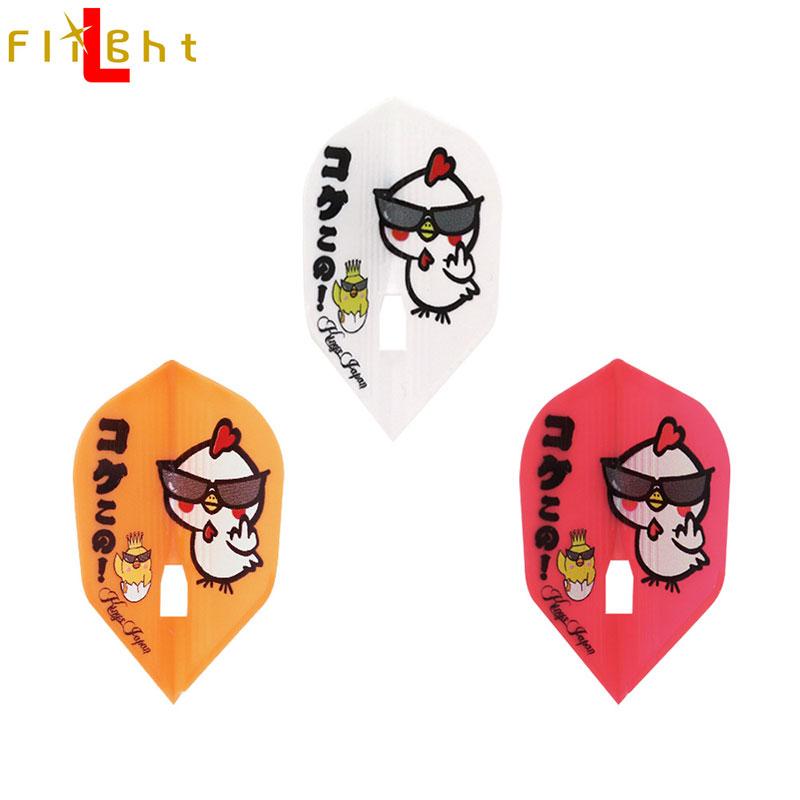 L-style(エルスタイル) L-Flight PRO KAMI(エルフライトプロ カミ) Kings Japan コケこの!2020 シェイプ MIX (ダーツ フライト)