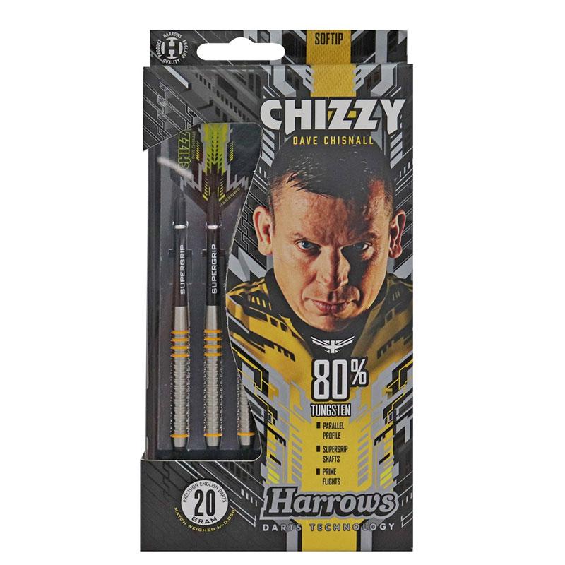 Harrows(ハローズ) CHIZZY(チージー) 80%タングステン 2BA 20gR デイブ・チズネル選手モデル (ダーツ バレル)