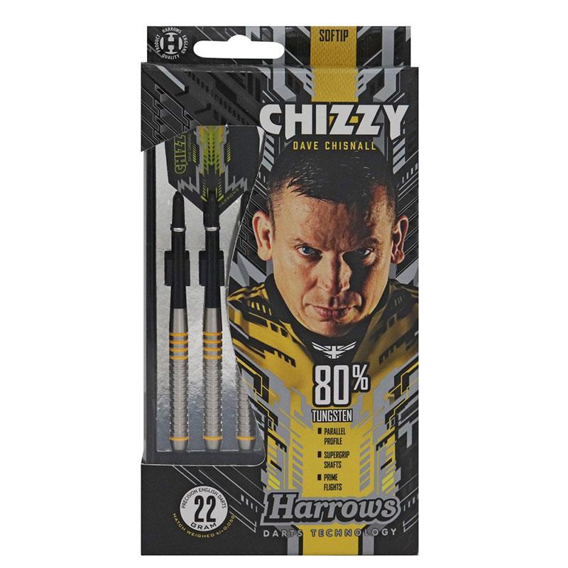 Harrows(ハローズ) CHIZZY(チージー) 80%タングステン 2BA 22gR デイブ・チズネル選手モデル (ダーツ バレル)