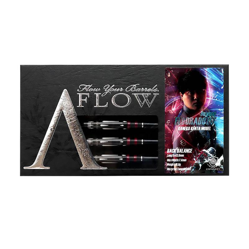 DYNASTY(ダイナスティー) A-FLOW BLACK LINE コーティングタイプ EL DORADO4 Beyond(エルドラド4 ビヨンド) BACK BALANCE 2BA 金子憲太選手モデル (ダーツ バレル)