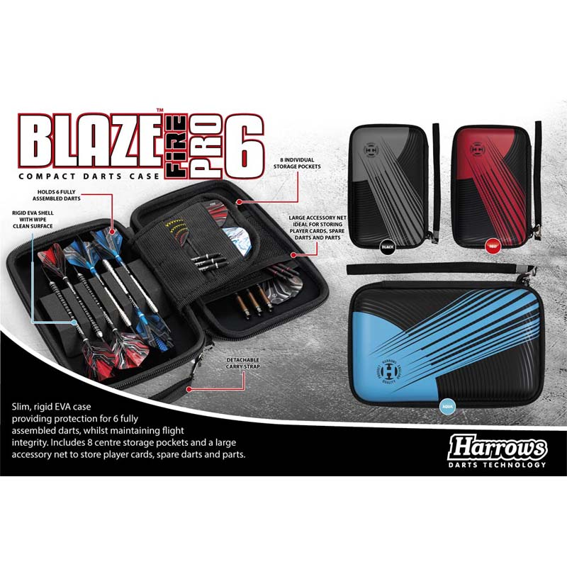 Harrows(ハローズ) BLAZE PRO 6 FIRE CASE(ブレイズプロ6ファイア ケース) (ダーツ ケース)