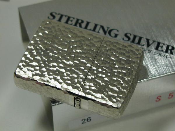 ジッポーライター: Zippo アーマー スターリングシルバー #26 S5 純銀無垢 5面 鎚目 Armor Silver 『ハンマートーン』 レギュラー ☆ゴージャス☆ 送料無料 【ギフト包装】 【ジッポ】 【ジッポー】 【ライター】 【純銀】 【ダルマヤ】