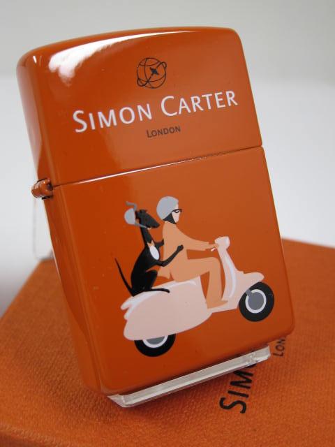 ジッポーライター:Zippo Simon Carter // サイモン カーター // モープド SCP-009 London イギリス ☆カワイイ!!☆ ♪人気商品♪【ギフト包装】 【母の日】 【父の日】 【ジッポ】 【ジッポー】 【ライター】 【ダルマヤ】