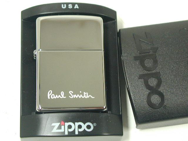 ジッポーライター: Zippo ポールスミス 【 Paul Smith 】 ロゴ #250 ♪ハイポリッシュ クローム♪ レギュラー ★希少!!★【ギフト包装】 【ジッポ】 【ジッポー】 【ライター】 【ダルマヤ】