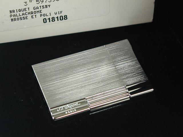 デュポンライター: 【限定】 デュポン GATSBY シルバー/銀色 #18108 //ギャッツビー// サテン 《豪華!!》 送料無料 【ギフト包装】【Dupont】 【ライター】 【ダルマヤ】