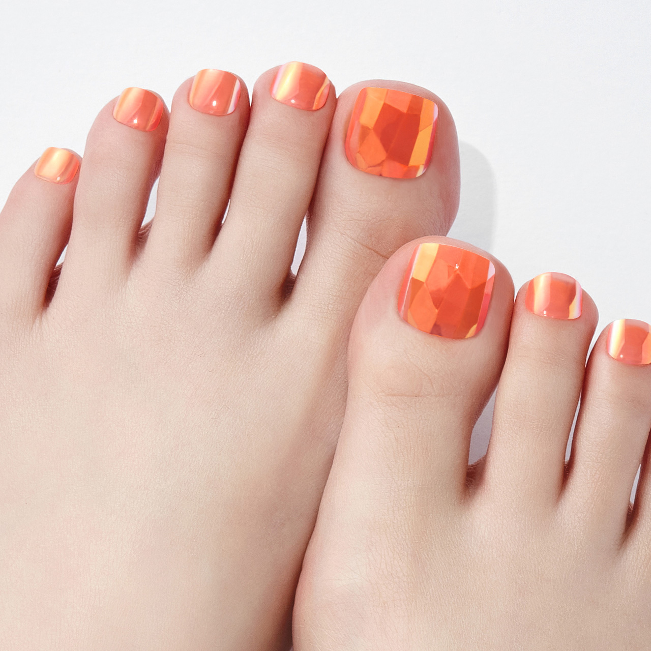 【Neon Light Orange】ダッシングディバマジックプレス ペディ