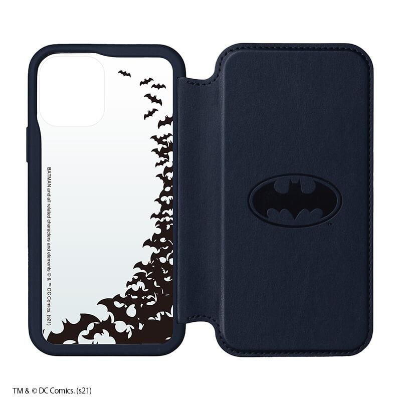 iPhone 12/12 Pro用 ガラスフリップケース /バットマン