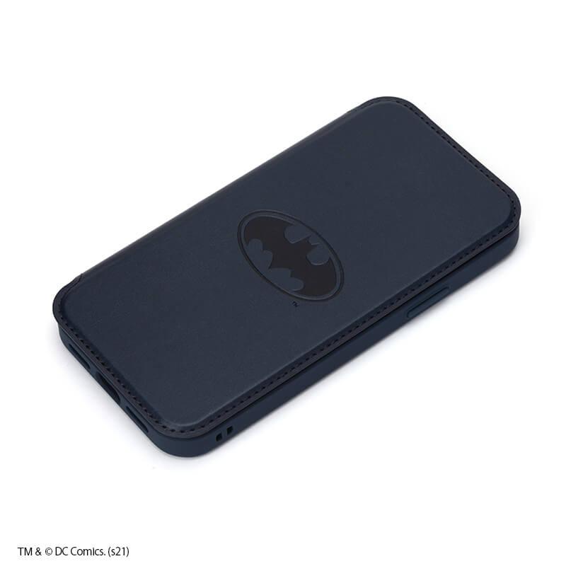 iPhone 12 mini用 ガラスフリップケース /バットマン