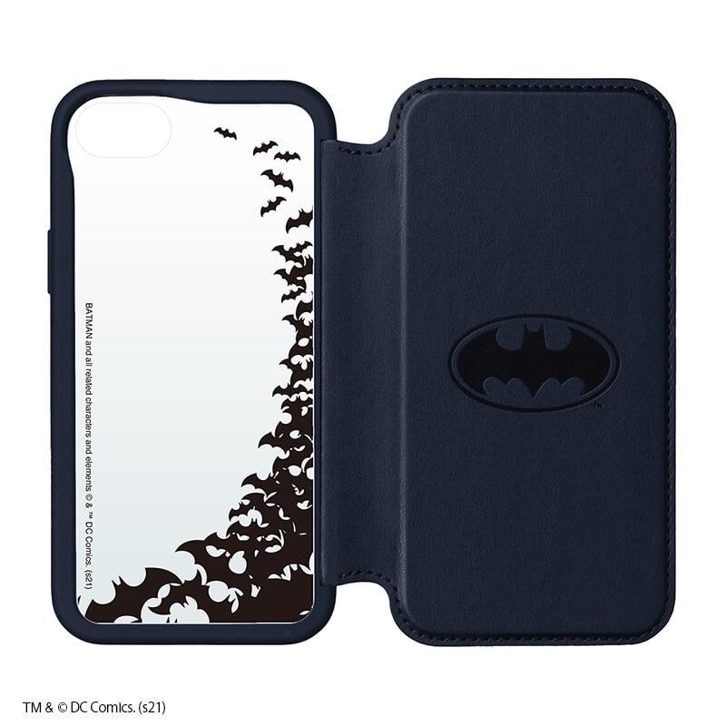 iPhone SE/8/7/6s/6用 ガラスフリップケース /バットマン