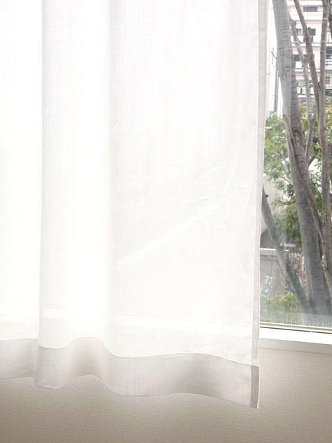 オーダーレースカーテン/ラミーリネン/フレッド