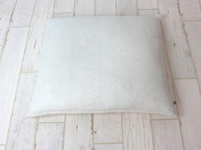 ストライプ調リネン/座布団カバー/55×59cm