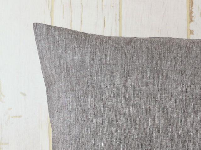 シャンブレー調リネン/クッションカバー/45×45cm/カスターノ