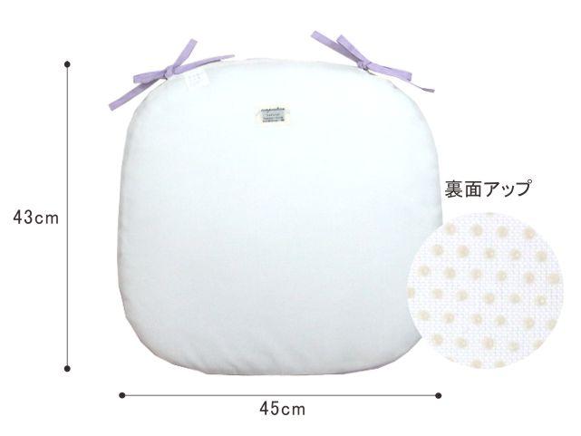 細番手(80)リネン/バテイシートクッション/43×45cm