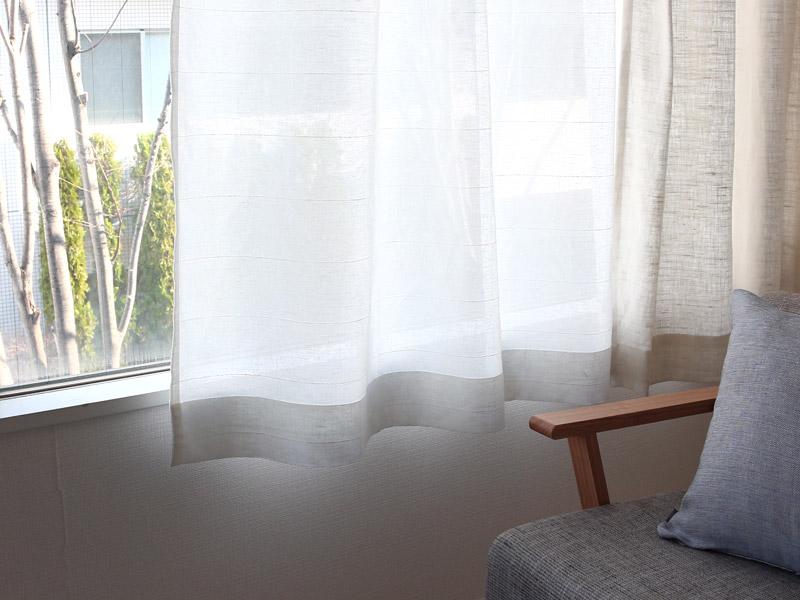 オーダーレースカーテン/綿麻/刺繍/ガレリア