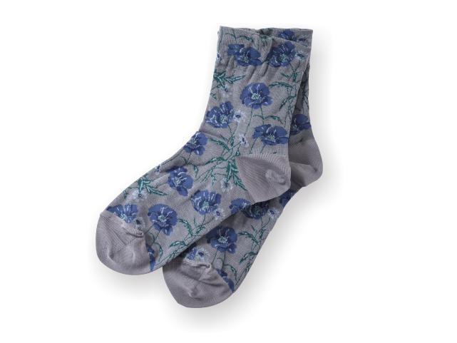 リバティプリント/靴下/22.5〜24.5cm