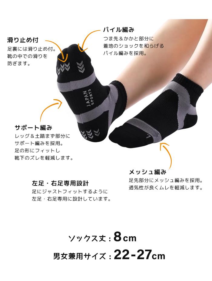 《日本製》 高機能スポーツソックス 先丸ソックス 選べる9カラー MIK1SOCK
