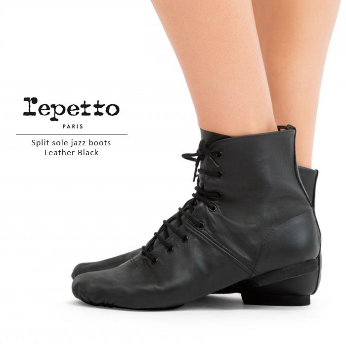 《送料無料》【repetto/レペット】上級のダンサー向きハイカットジャズシューズ T016 《企画・デザイン/フランス》