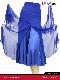 《送料無料》【Dance doll / ダンスドール】《Dd61312-RYB》深いスリットが入ったジョーゼットの85cmスカート《ロイヤルブルー・S・M・L・LLサイズ》女性社交ダンスウエア【日本製】
