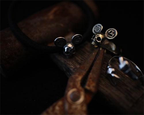 F**K & PEACE Skull Ring -Silver