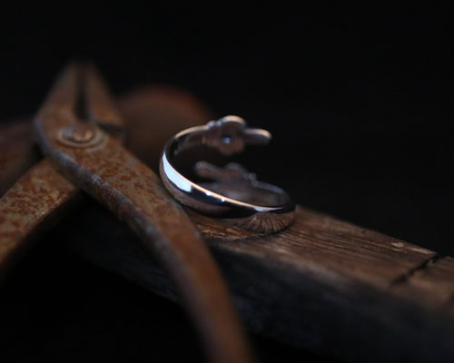 F**K & PEACE Hands Ring -Silver