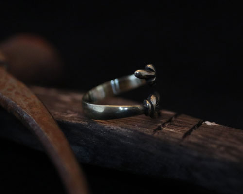 F**K & PEACE Hands Ring -Brass