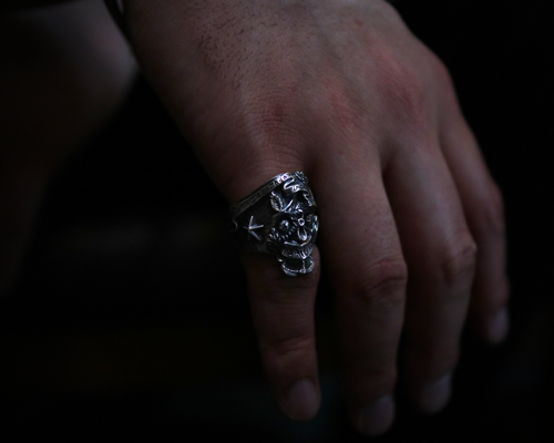 All Nature Skull Ring -SILVER