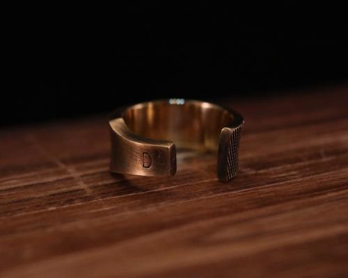 Large Rasp Ring -BRASS