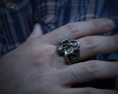 [LIVE⇔EVIL]Skull Ring -BRASS