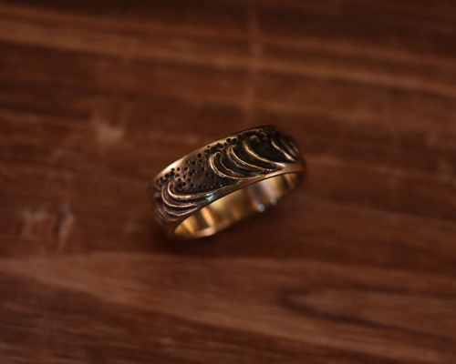 "All Nature Ring ""Wave"" -BRASS"