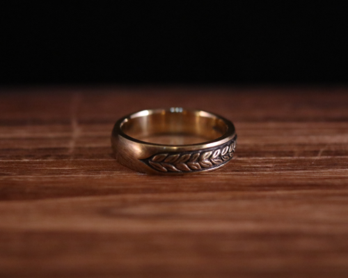"All Nature Ring ""Leaf"" -BRASS"