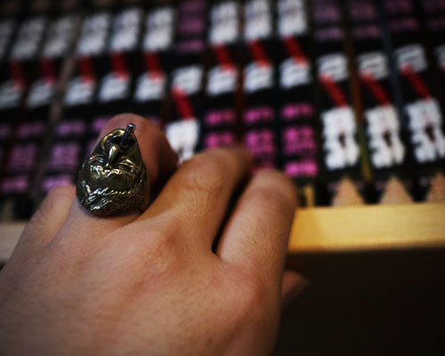 """Scar Face""Ring -BRASS"