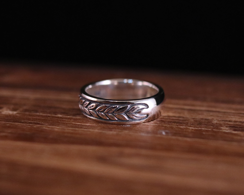 "All Nature Ring ""Leaf"" -SILVER"