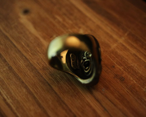 """GODS Good Vibes""Ring -BRASS"