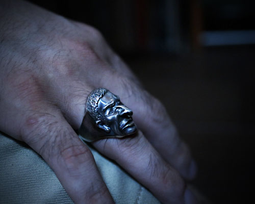 """GODS Good Vibes""Ring -SILVER"