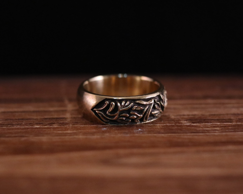 "All Nature Ring ""Floral"" -BRASS"