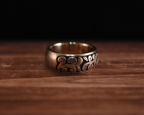 "All Nature Ring ""Ivy"" -BRASS"